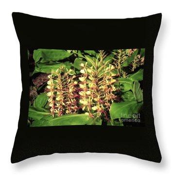 Plant Flowers Throw Pillow