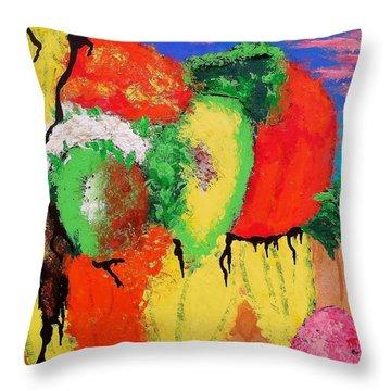 Plant Food Still Life Throw Pillow by Raymond Perez