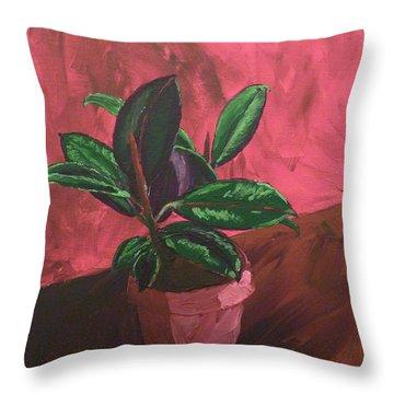 Plant In Ceramic Pot Throw Pillow by Joshua Redman