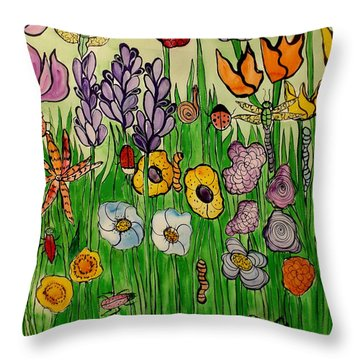 Plant Your Garden Throw Pillow