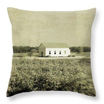 Plantation Church Throw Pillow by Scott Pellegrin