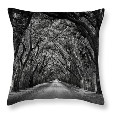 Plantation Oak Alley Throw Pillow