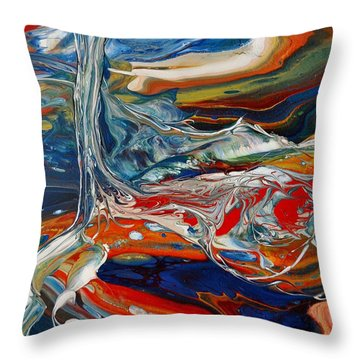 Planted By The Waters Throw Pillow