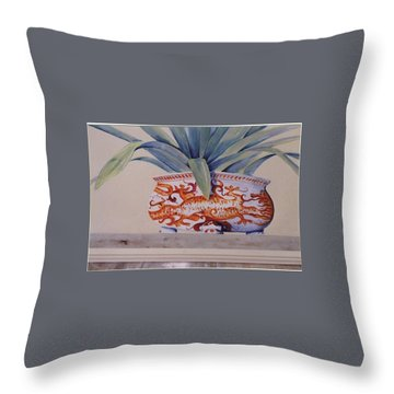 Planter Close Up Throw Pillow