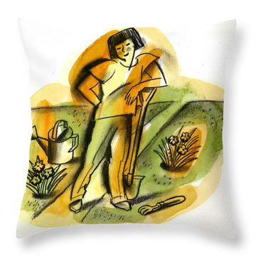 Planting Throw Pillow