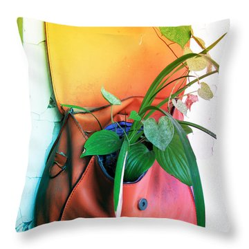 Planting Of Greenery Throw Pillow