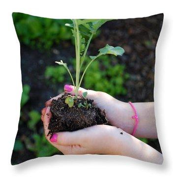 Planting Season Throw Pillow