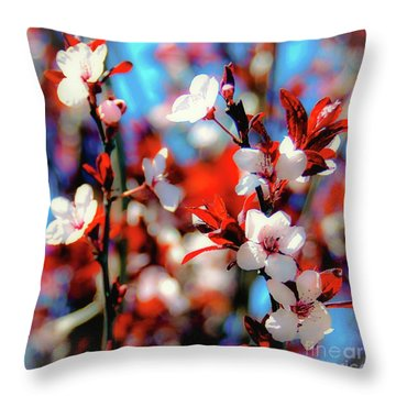 Plants And Flowers Throw Pillow