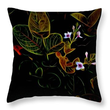 Plants In Abstract 19 Throw Pillow
