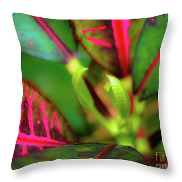 Plants In Hawaii Throw Pillow
