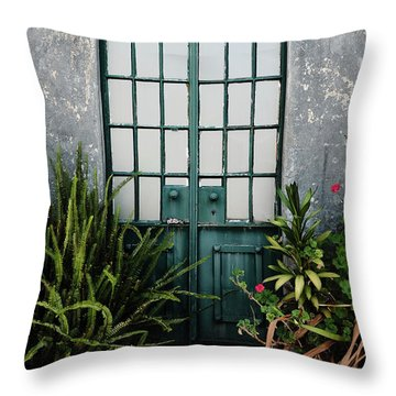 Throw Pillow featuring the photograph Plants In The Doorway by Marco Oliveira