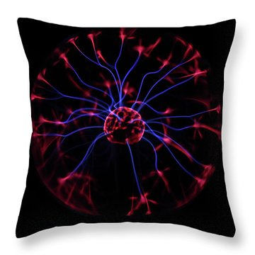 Plasma Ball II Throw Pillow