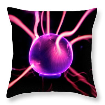 Throw Pillow featuring the photograph Plasma Blast by Tyson Kinnison