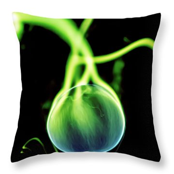 Throw Pillow featuring the photograph Plasma Blaster by Tyson Kinnison