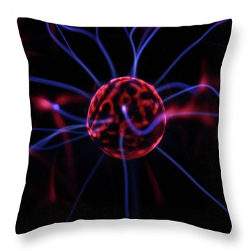 Plasma Electrode Throw Pillow