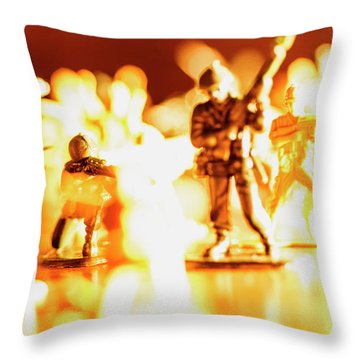 Throw Pillow featuring the photograph Plastic Army Men 1 by Micah May