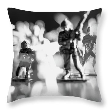 Throw Pillow featuring the photograph Plastic Army Men 2 by Micah May