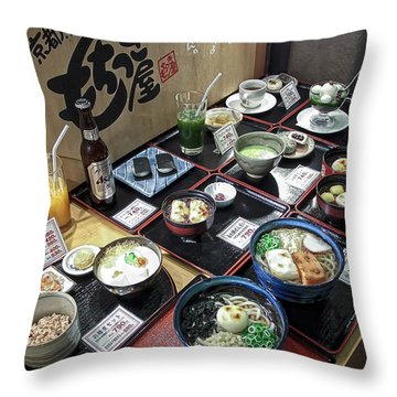 Plastic Food Display - Kyoto Japan Throw Pillow
