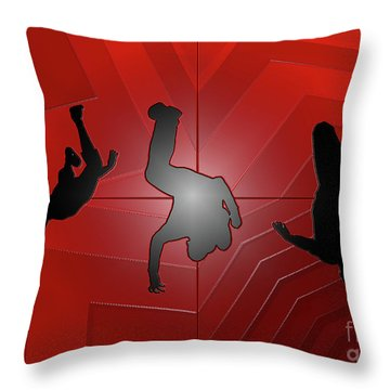 Plastic Wrap Throw Pillow