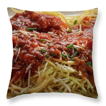 Plated Pasta Throw Pillow