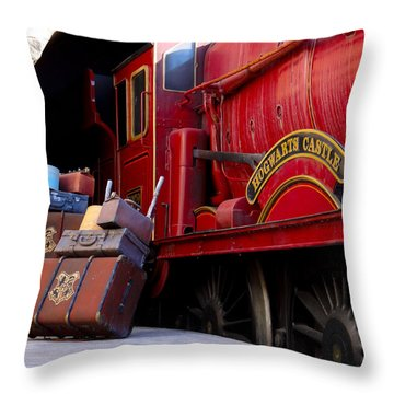 Platform Nine And Three Quarters Throw Pillow