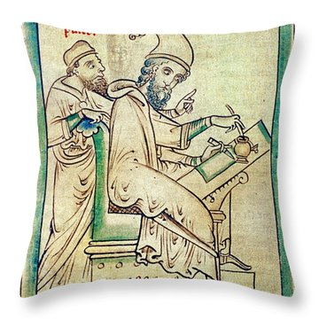 Plato With Socrates Throw Pillow by Granger