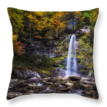 Throw Pillow featuring the photograph Plattekill Falls by Mark Papke