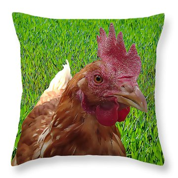 Play Chicken Throw Pillow