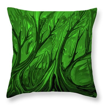 Play Green #h6 Throw Pillow