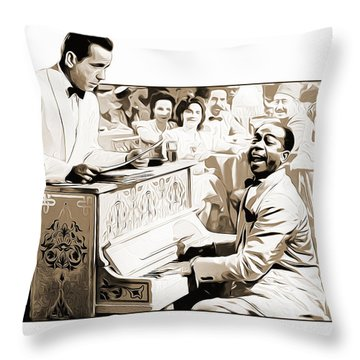 Play It Sam Throw Pillow