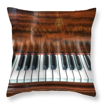 Play Me Throw Pillow by David Morefield