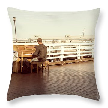 Play Me, I'm Yours Throw Pillow