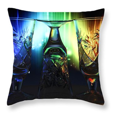 Play Of Glass And Colors Throw Pillow