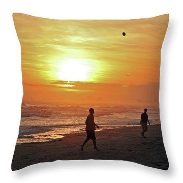 Play On The Beach Throw Pillow