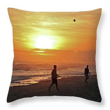 Play On The Beach Throw Pillow