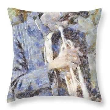 Play The Blues Throw Pillow by Shirley Stalter