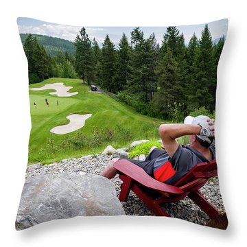 Throw Pillow featuring the photograph Play Through Or Enjoy The View by Darcy Michaelchuk