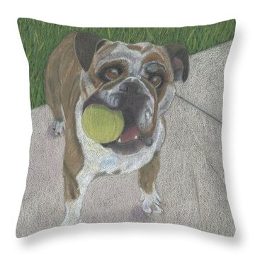 Play With Me Throw Pillow by Arlene Crafton