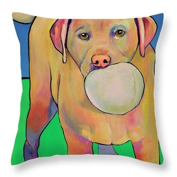Play With Me Throw Pillow by Pat Saunders-White