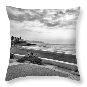 Playa Burriana, Nerja Throw Pillow
