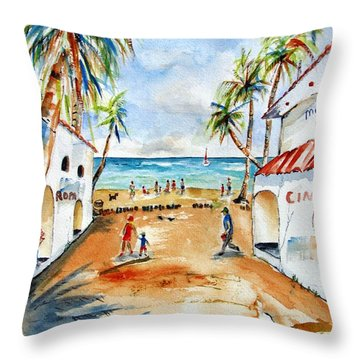Playa Del Carmen Throw Pillow