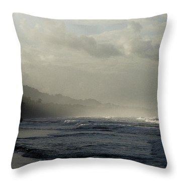 Playa Negra Beach At Sunset In Costa Rica Throw Pillow