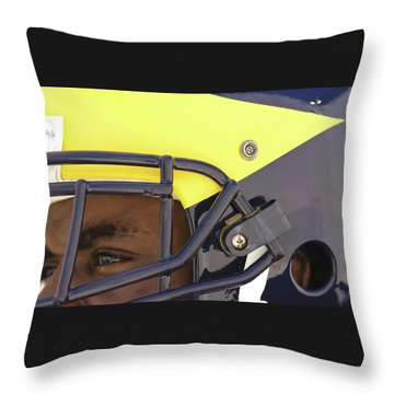 Player In Winged Helmet Throw Pillow