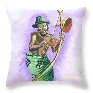 Player Umuduri From Rwanda Throw Pillow