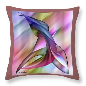 Playful Abstract  Throw Pillow by Iris Gelbart