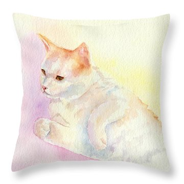 Playful Cat IIi Throw Pillow