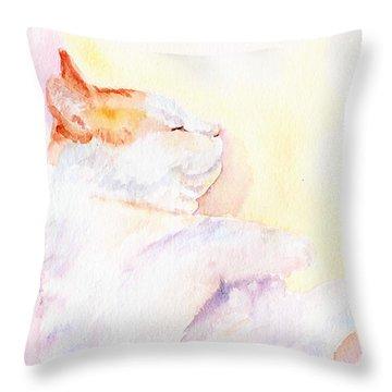 Playful Cat Iv Throw Pillow