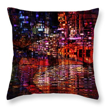 Playful Evening Throw Pillow