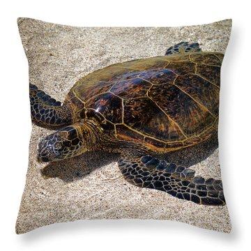 Playful Honu Throw Pillow