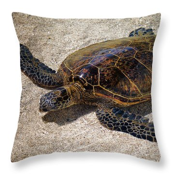 Playful Honu Throw Pillow